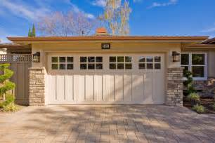 Craftsman style garage doors garage and shed craftsman with driveway