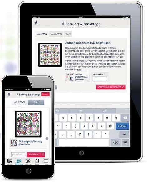 meine deutsche bank de service optionen verwalten deutsche bank banking mit phototan und