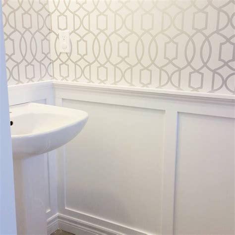 powder room wallpaper powder room board and batten wallpaper pinteres