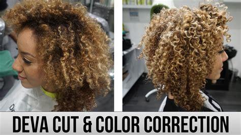 is deva cut hair uneven in back deva cut color correction going blonde curls one on