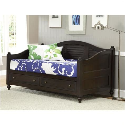 contemporary daybed with storage with daybed how to home styles bermuda wood daybed with storage in espresso