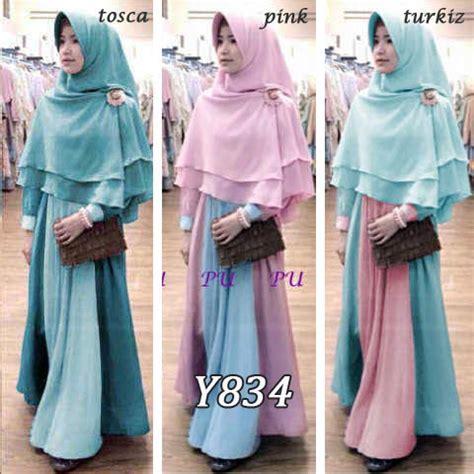 New Model Syar I Plus Khimar Ramadhan Lebaran Promo baju gamis bergo zulfa new y834 busana muslim remaja