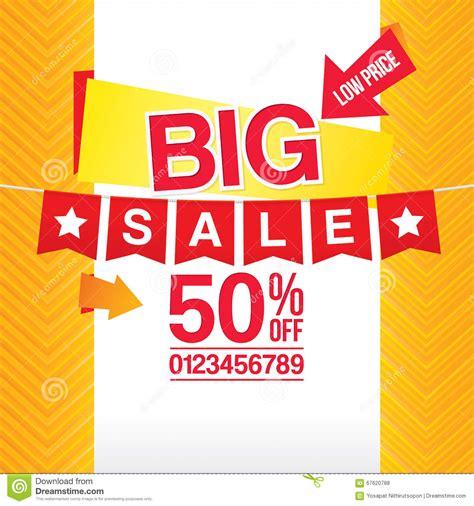 design poster sale big sale poster design stock vector illustration of