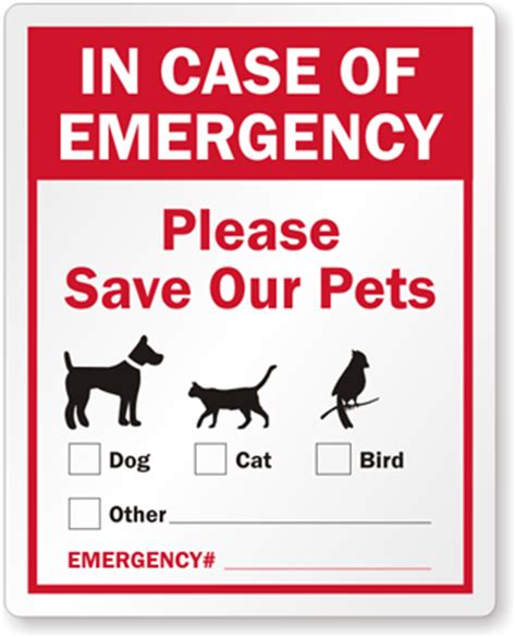 Aufkleber Feuerwehr Tiere by In Of Emergency Label Pets Safety Window Decal With