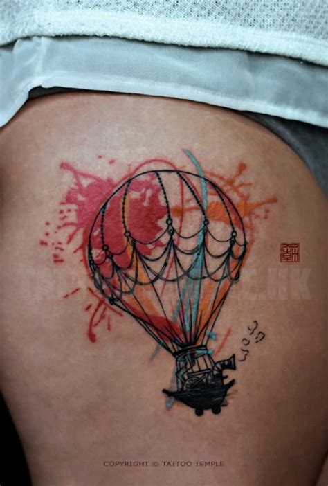 splatter balloon artwork and tattoo by elizabeth www