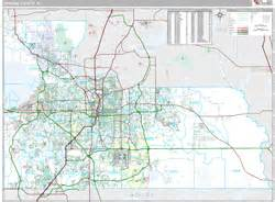 orange county fl zip code wall map premium style by