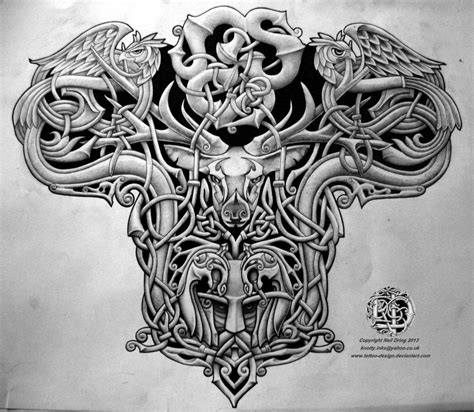deviantart tattoo celtic warrior back design by design on