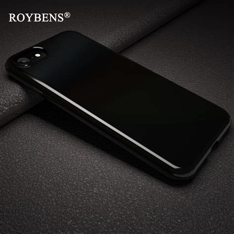 Softcase Soft Iphone 7 Plus Original X Level Natureliving Rubber aliexpress buy roybens originality jet black soft for iphone 7 plus iphone 8 silicone