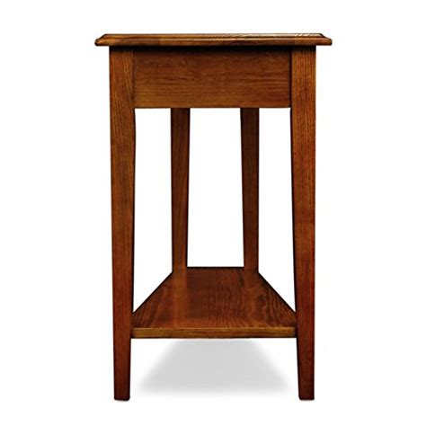Recliner Side Table Leick Recliner Wedge End Table Medium Oak Import It All