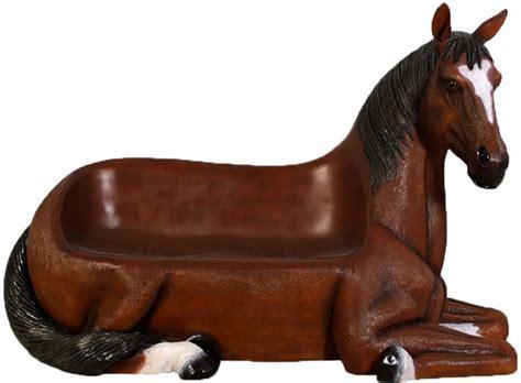 horseshoe couch fibreglass horse settee