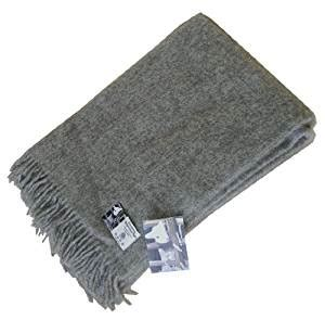 graue wolldecke extralange graue wolldecke aus 100 naturbelassener