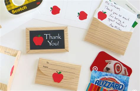 Gift Card Holder Ideas For Teachers - most popular gift ideas for teacher appreciation week
