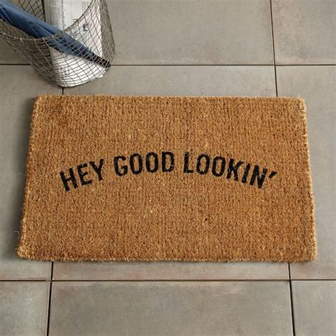 unique doormats hey good lookin coir doormat west elm