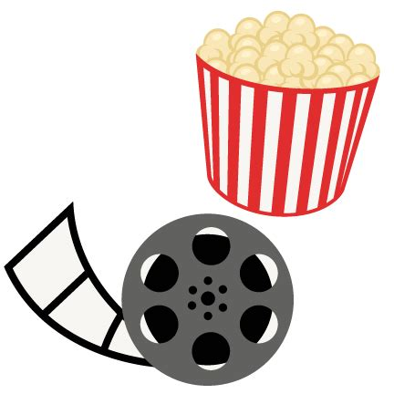 Free Software Mailed To Me At Home popcorn movie reel movie night svg scrapbook cut file cute
