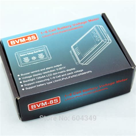 2 In 1 Lipo Monitor Buzzer High Quality bvm digital 1 8s lcd battery voltage meter tester buzzer