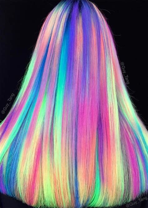 glow in the hair color glow in the hair glowing neon hair
