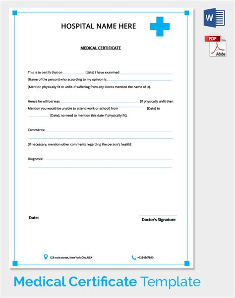 sick certificate template sle certificate 27 documents in pdf