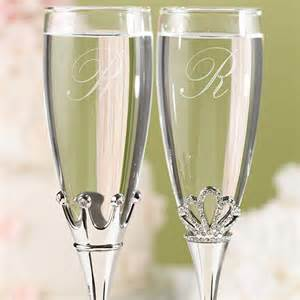 Wedding Favors Chagne Flutes by King And Toasting Flutes
