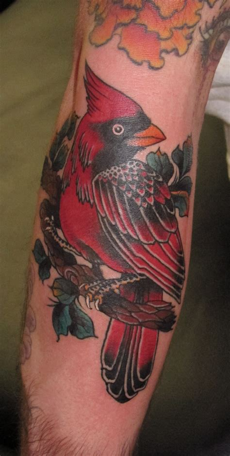 red cardinal tattoo cardinal