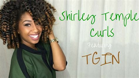 black hair with shirley temple curles with long hair on top and short in back shirley temple curls on natural hair ft tgin youtube