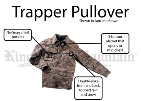 king of the mountain trapper pullover