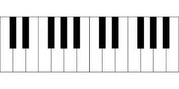 gratis vectorafbeelding piano toetsen octave muziek