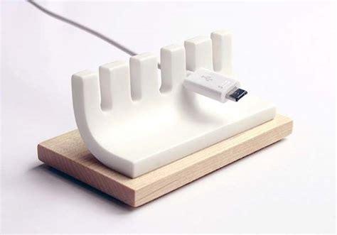 Handmade Wooden Minimal Desk Cable Organizer Gadgetsin Cable Organizer For Desk