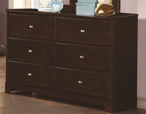 Cappuccino Dresser by Ashton Cappuccino 6 Drawer Dresser From Coaster 400773