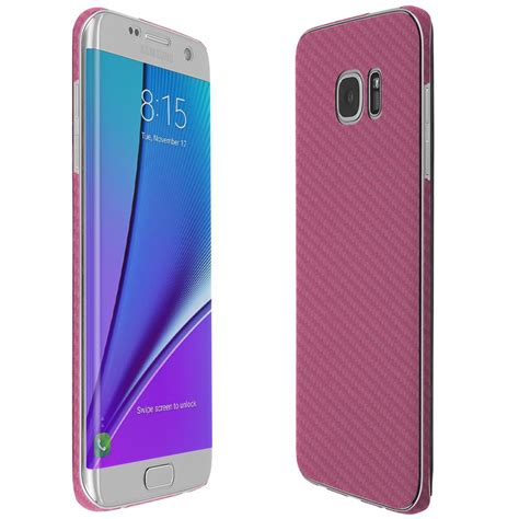 Samsung Galaxy S7 Edge Pink skinomi techskin samsung galaxy s7 edge pink carbon