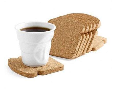 toast shaped coaster set gadgetsin