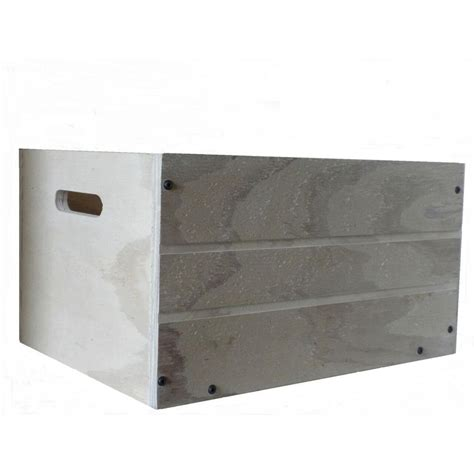 crate wood planter in white cpw0714 the home depot