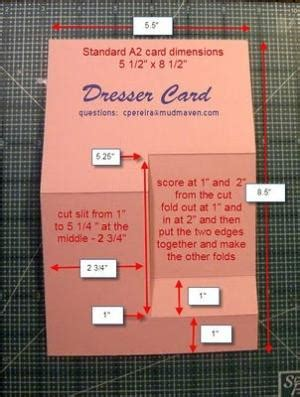 4 25 X 5 5 Inch Side Step Card Template 4 25 X 5 5 Card Template