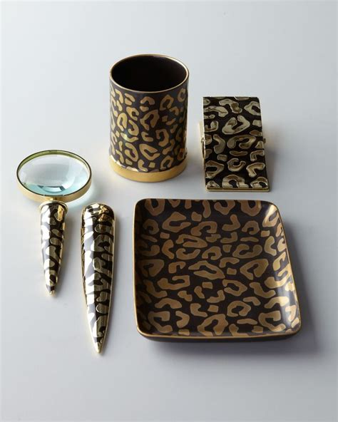 Leopard Desk Accessories Leopard Print Desk Accessories Werk Pinterest