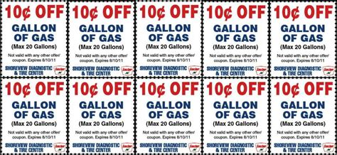 Printable Gas Coupons 2018