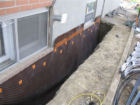 basement wall drainage mat foundation waterproofing drainage mat blues buildingology