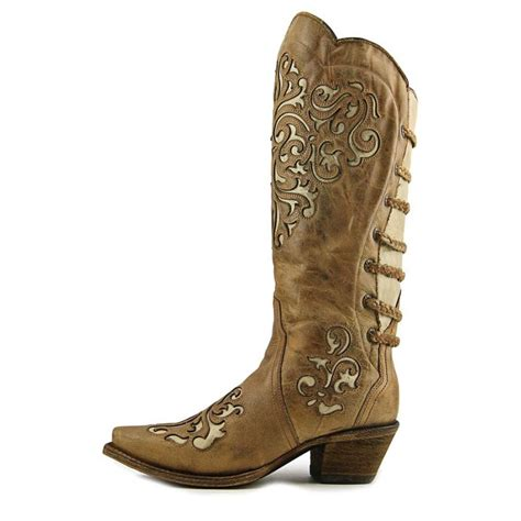 western womens boots corral a3043 leather brown western boot boots