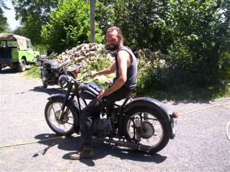 Awo 425 Mit W Nsche Beiwagen by Emw R35 Motorcycle Oldtimer Unboxing And Soundcheck Ful