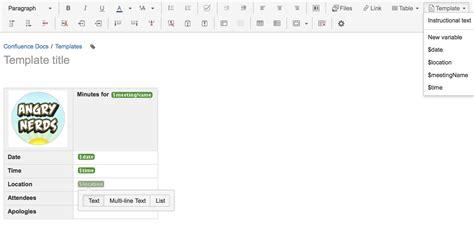 confluence create page template create a template atlassian documentation