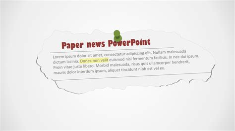 newspaper clipping powerpoint shapes slidemodel