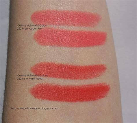 Catrice Matt Lipstick Matt About Pink the rainbow catrice it s a matt world lipstick review