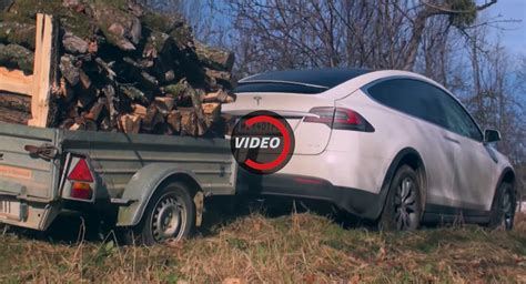 tesla off road vehicle tesla model x gets all dirty in the woods