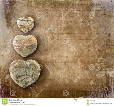 vintage images vintage paper with hearts royalty free stock photos