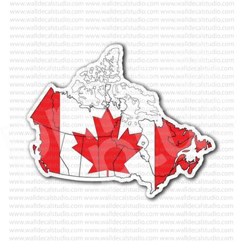 printable vinyl sticker paper canada canada map canadian flag sticker