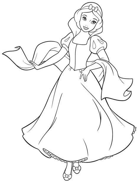 snow princess coloring pages disney princess snow white coloring page hm coloring
