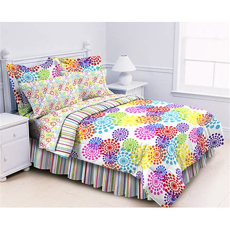 multi colored comforters prism multi bed in a bag rainbow colored comforter set