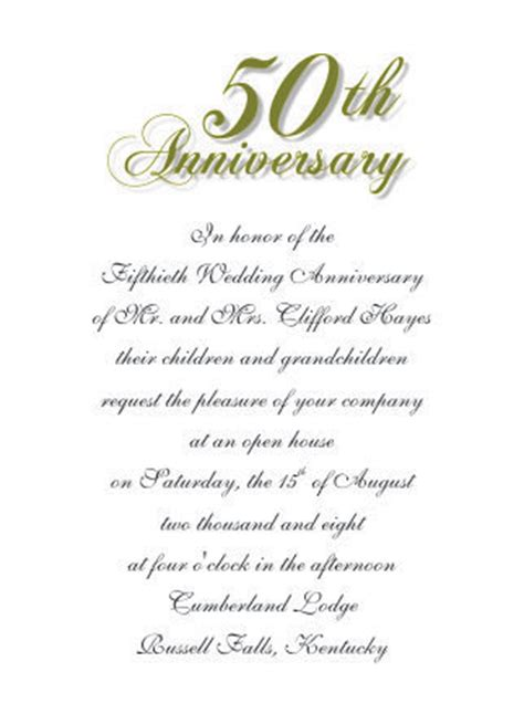 microsoft word template anniversary card 50th wedding anniversary invitations