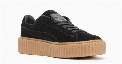 Rihanna X Creeper Black rihanna x creeper black gum cool sneakers