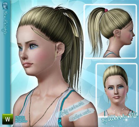 sims 3 high ponytail the sims 3 high ponytails hairstyle 04 by ulker