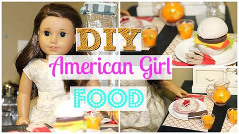 how to make american doll food out of paper diy american
