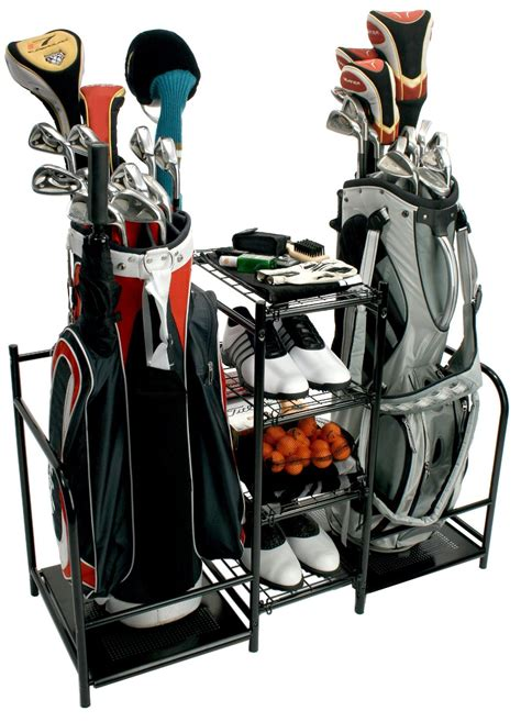 Sport Bag Organiser proactive sports dual golf bag equipment storage organizers